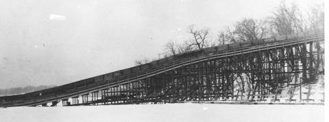 Toboggan Slide Lake Harriet 1914 side