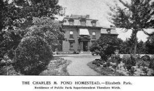 Theodore Wirth lived in the upper level of the residence in Elizabeth Park in Hartford, Conn. The ground floor was open to the public.(Picturesque Parks of Hartford, 1900)