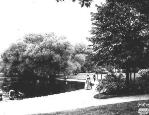 The Van Cleve pond in 1905.  Sweet, Minnesota Historical Society)