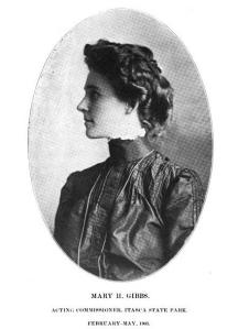 Mary H. Gibbs, Acting Commissioner, Itasca State Park, 1903