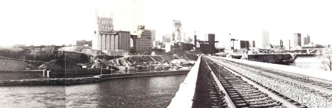 View from the Stone Arch Bridge 1980 (Riverfront News)