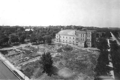 The southern half of the Sculpture Garden site before it was designated to become a garden in 1913.