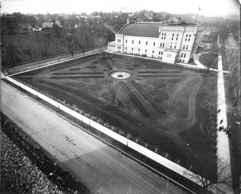 Teh same site as above ready for plantin gfor the 1913 convention of the Society of Amrican Florists and Ornamental Horticulturists