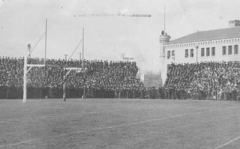 Northrop FIeld bleachers and choice standing room