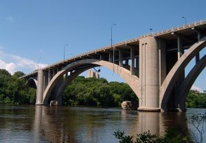 The graceful arch of the bridge was the world's longest concrete span at the time it was completed in 1923. (Mulad)