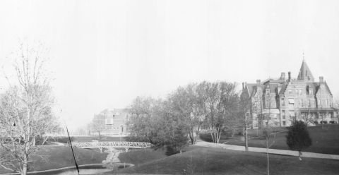 Washburn Fair Oaks from 3rd Avenue about 1890 (Hennepin County Library, Minneapolis Collection)