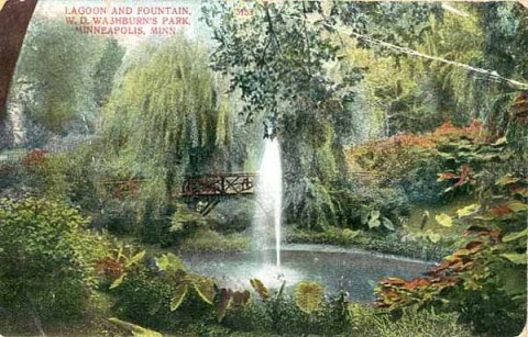 """Washburn Park"", meaning the grounds at Fair Oaks, about 1910 (Minnesota Historical Society)"