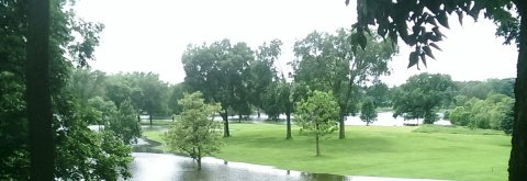 More than a water hazard. Hiawatha Golf Course looking south from E. 43rd Street near Standish. (David C. Smith)