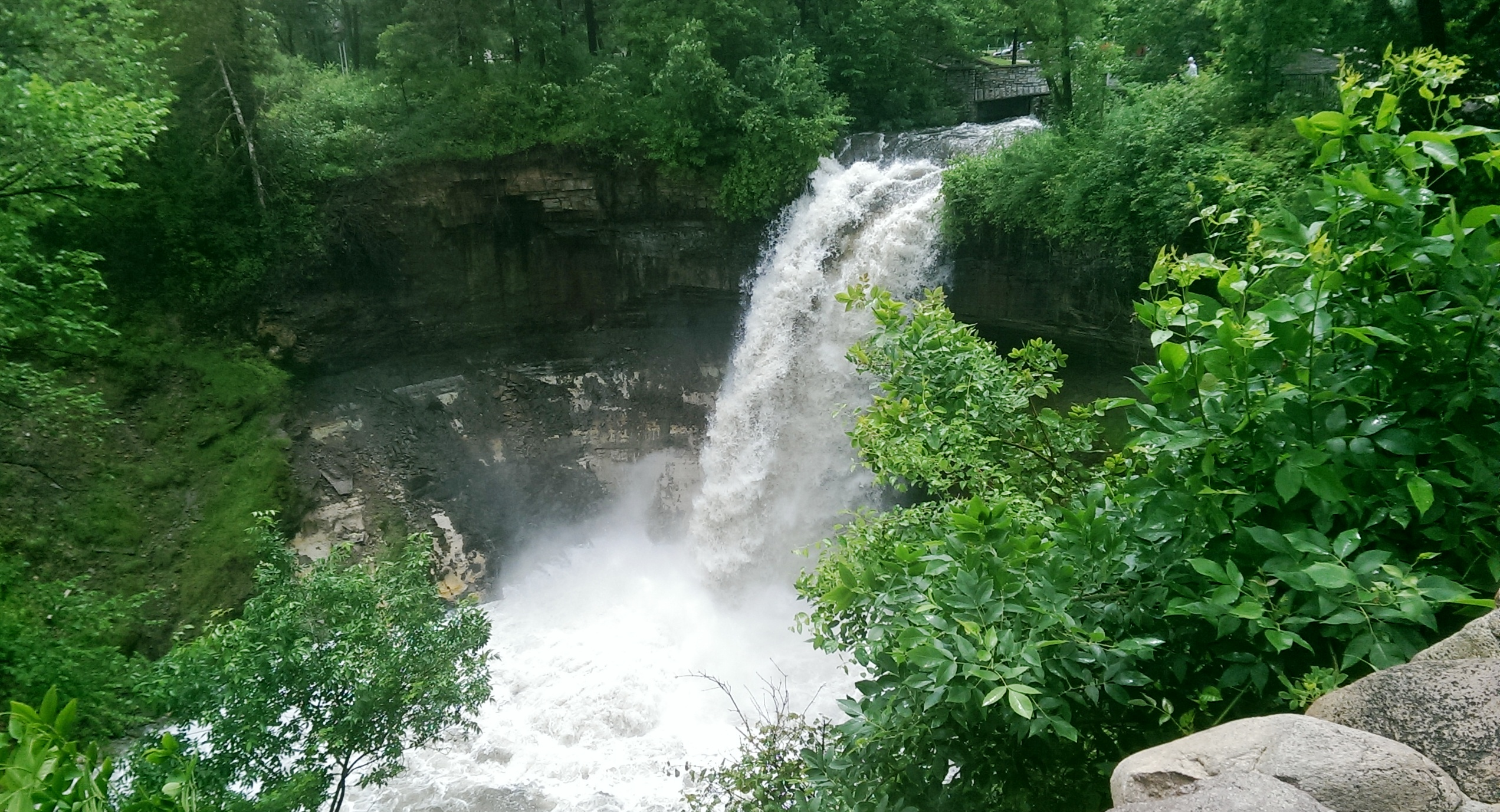 The falls made famous by Henry Wadswotrth Longfellow. I recently discovered  startling early plans for