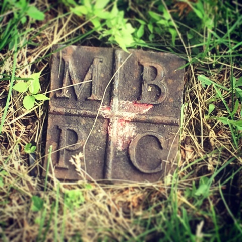 The marker Craig found in Northeast Athletic Field Park.
