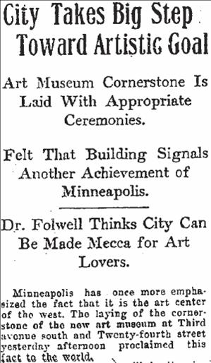 Minneapolis Tribune headline July 31, 1913