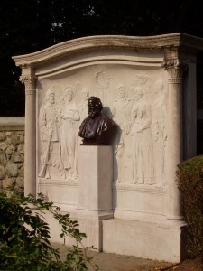 I don't know if French ever told the creators of the Cambridge Longfellow Memorial that he had created long before a far superior model for Minnehaha Park in Minneapolis. (Photo: Daderot Wikipedia.)