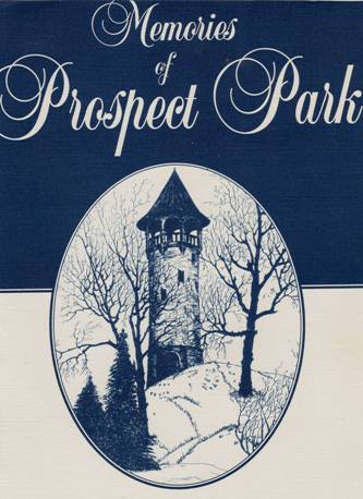 Tower Hill, by Opal Raines, in about 1944. This is the cover illustration of Memories of Prospect Park, edited by Joan Pudvan. (Image courtesy of Joan Pudvan)