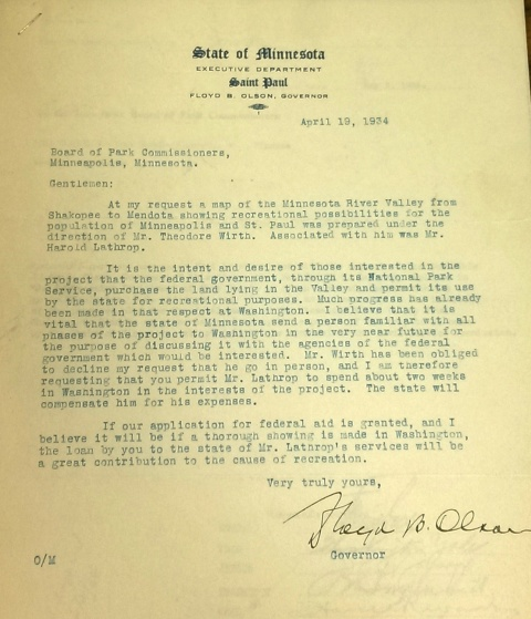 1934-04-19-gov-olson-to-bpc-on-minnesota-valley-national-park-rev