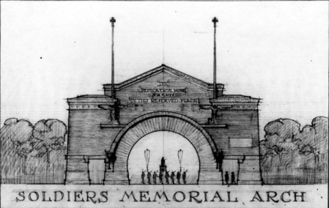 Soldiers Memorial Arch, Purcell