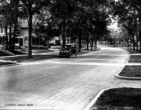 Linden Hills Boulevard freshly paved 1921 MHS
