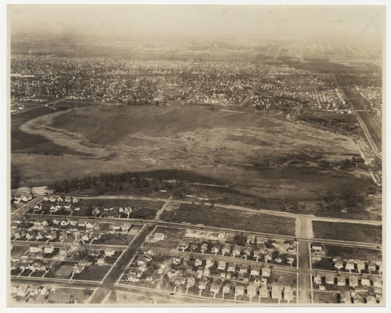 1929 Lake and Golf Course before course was built
